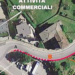 I pedoni di Taceno saranno più sicuri  Un marciapiede lungo la provinciale 67