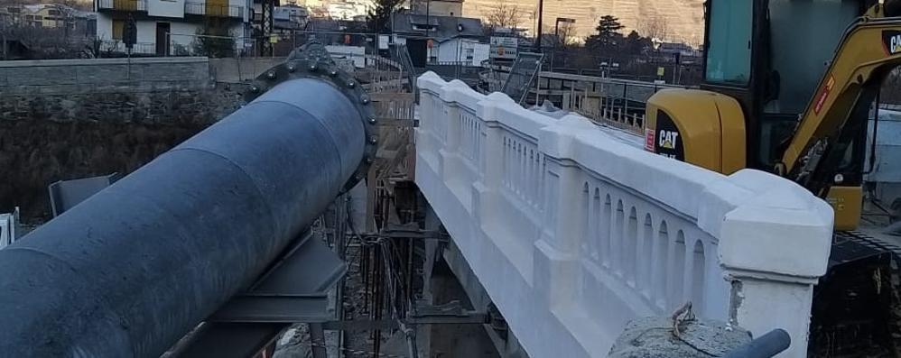 Ponte di Stazzona «Riaprirà fra tre mesi»