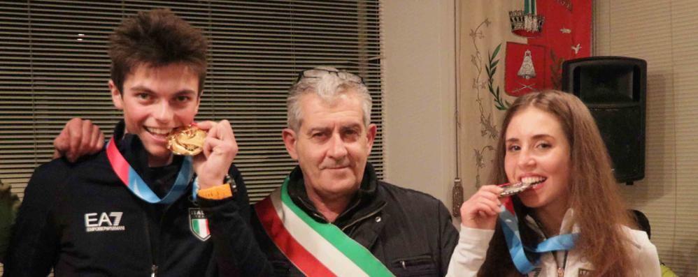Albosaggia in festa per i suoi campioni: «Ora Olimpiadi qui»