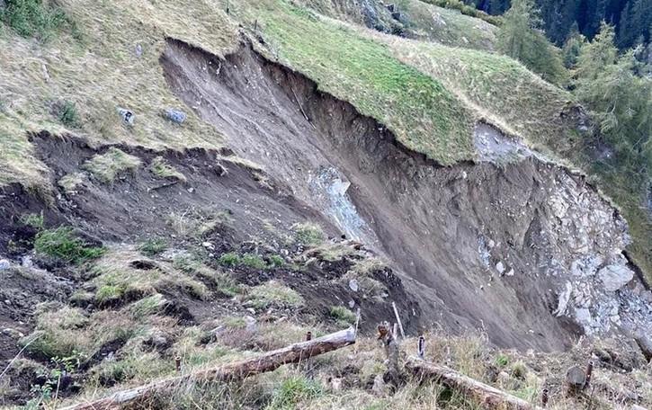 Frana a Fumero,   frazione evacuata