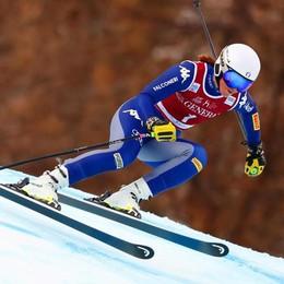 Elena Curtoni ottovolante   nel superg in Val d'Isère