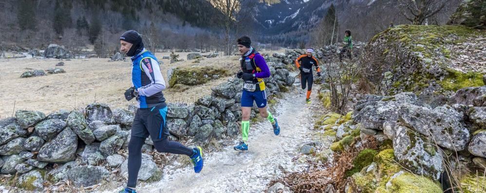 """Val di Mello Winter Trail""  Del Pero e Galassi da applausi"