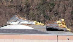 Vento, 50mila euro di danni  al polo fieristico di Morbegno