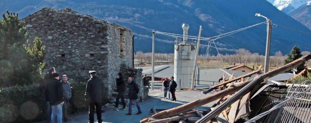 Vento fa volare il tetto  Traona, muore donna di 77 anni