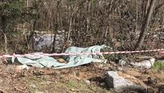 Amianto abbandonato  in mezzo ai boschi di Piuro