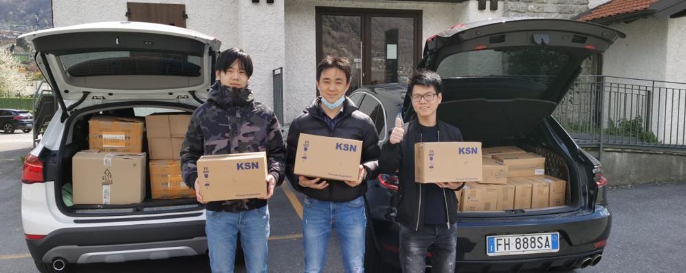 Dodicimila mascherine  Il dono per l'emergenza  dei cinesi di Valtellina