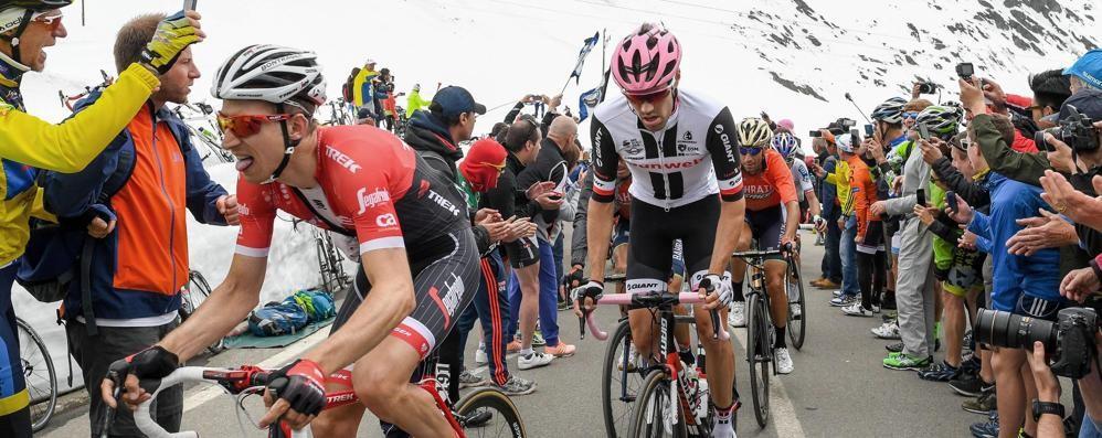 Il Giro d'Italia virtuale  ai Laghi di Cancano