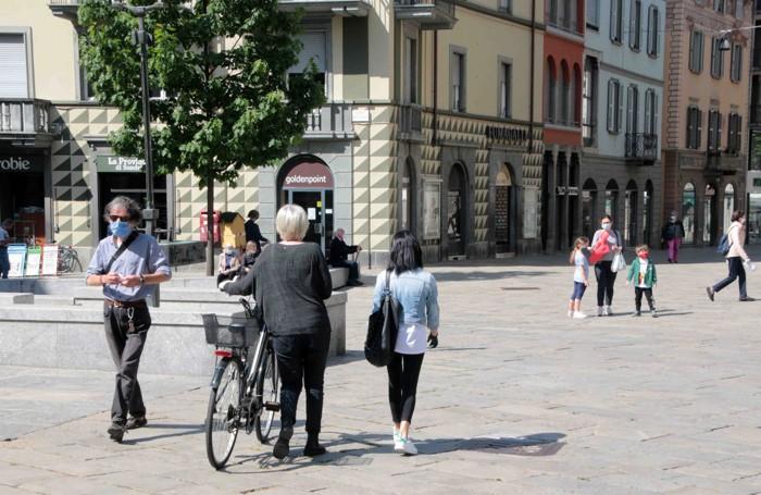 Sondrio coronavirus fase due Piazza Campello