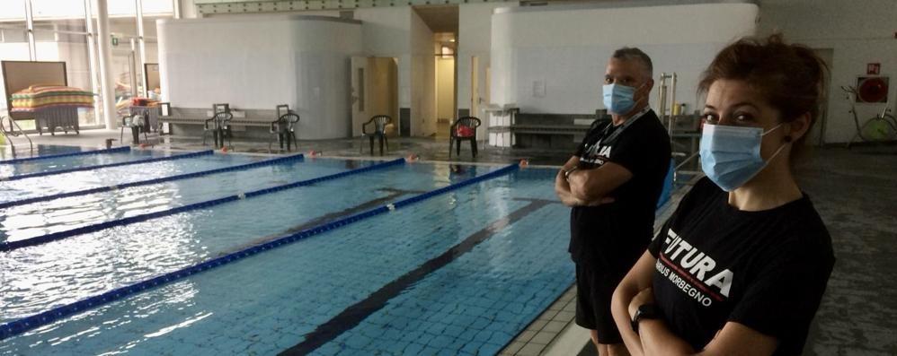 Primo giorno di piscina  a  Morbegno e Livigno