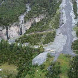 Frane e allagamenti in Alta Valle:  più di 40 persone evacuate  Interrotta la statale per lo Stelvio