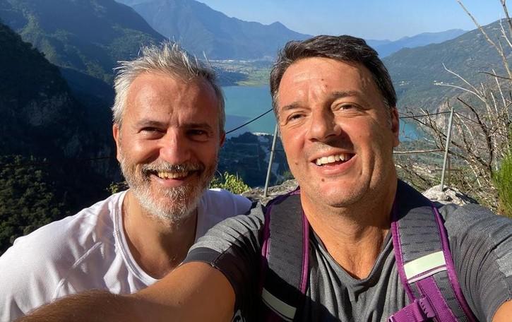 Renzi in Val Codera e Val Gerola Con la moglie e Del Barba
