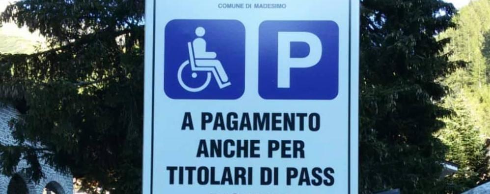 «Sosta a Madesimo   basta far pagare i i disabili»