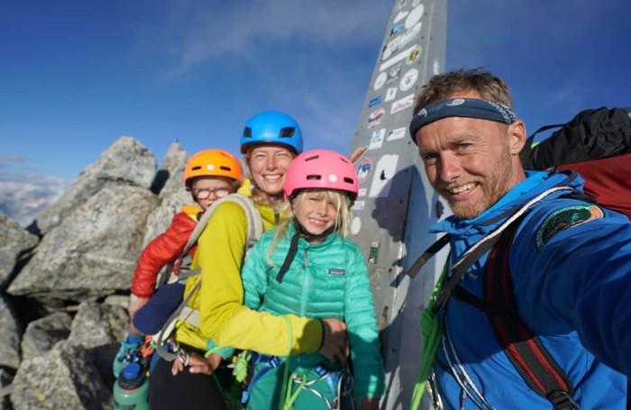L'alpinista Leo Houlding con la moglie e i figli