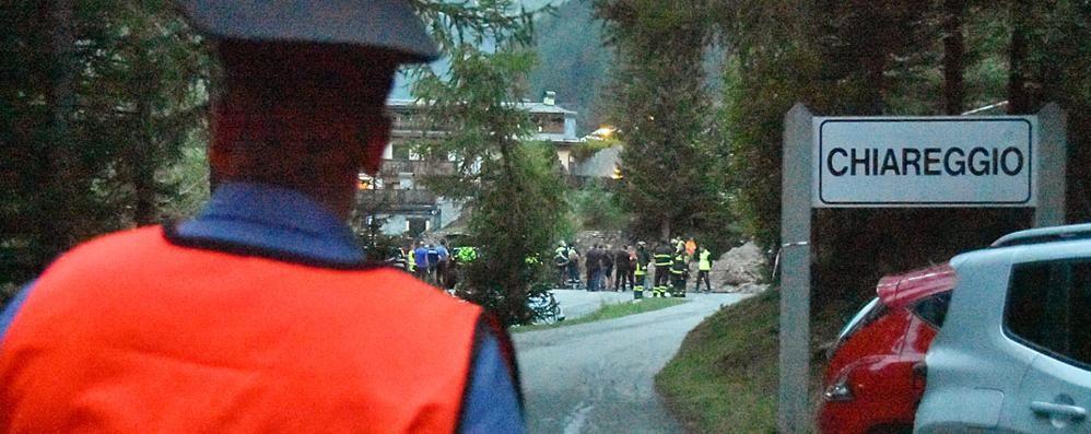 Evacuate in tarda serata  alcune case a  Chiareggio