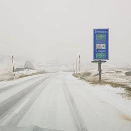 Pioggia, grandine e neve  Torna l'allarme al Ruinon  Chiusa la strada per Valfurva