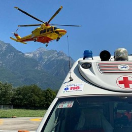 Incidenti: due feriti gravi  a Piantedo e Albaredo