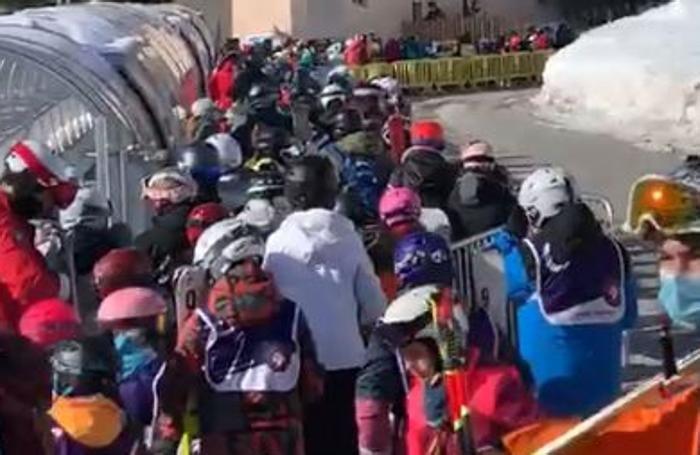 Celerina code sci sciatori ressa