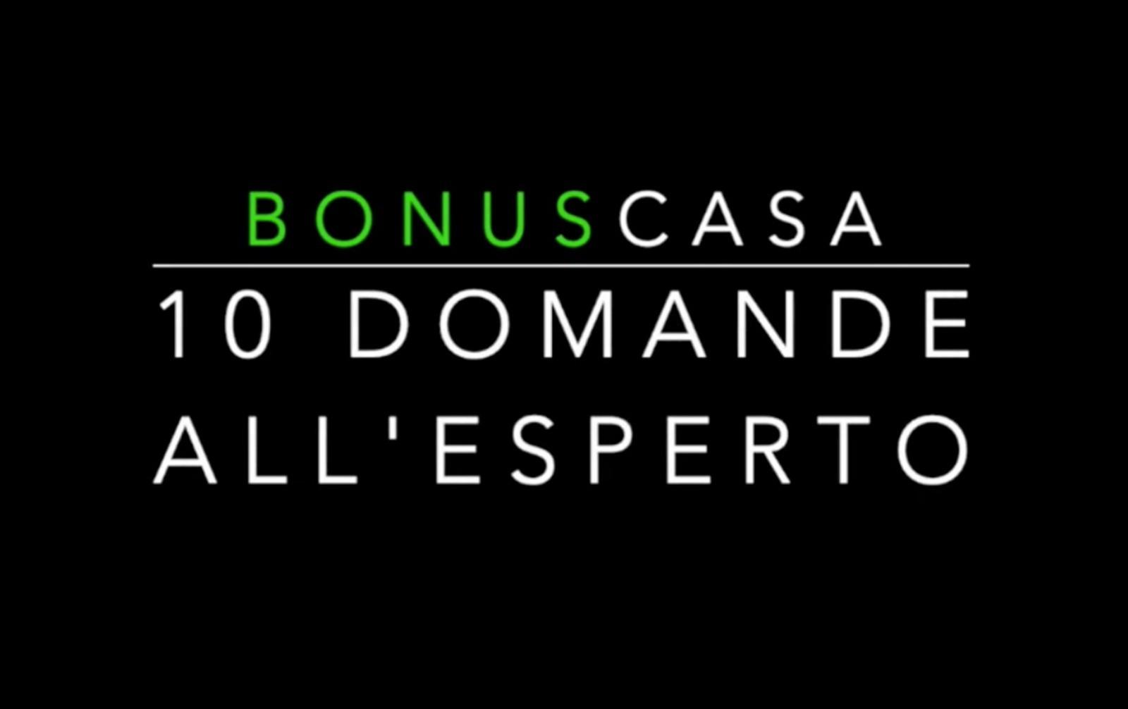 """Bonus 110%, il nuovo video della rubrica """"10 Domande all'esperto"""""""