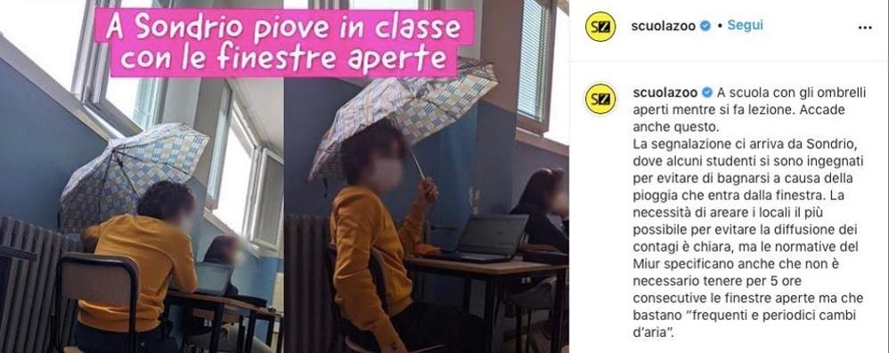 Ombrello in classe  La foto del Mattei  fa il giro d'Italia