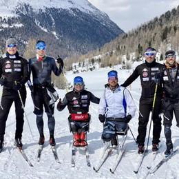 Nazionale paralimpica  I fondisti a Livigno