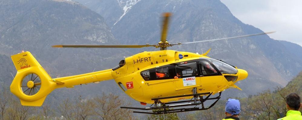 Precipita durante la gara  Atleta recuperato con l'elicottero