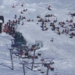 Trecento posti disponibili per sciare  In Val di Lei esauriti da ieri mattina