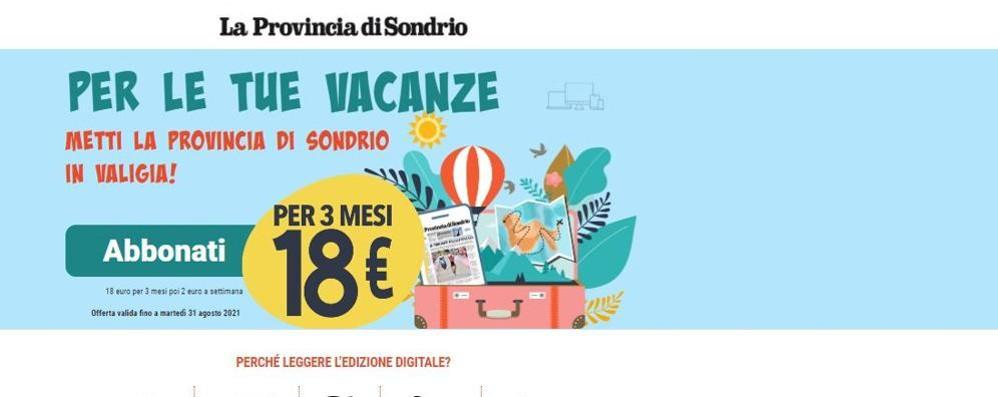 La Provincia di Sondrio  viene in vacanza con te