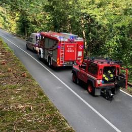 Nel bosco scivola per quasi sei metri  Soccorso con l'elicottero, è grave