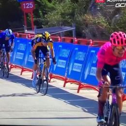 Andrea Bagioli terzo,   scossa alla Vuelta