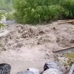 Pioggia, grandine  torrenti in piena  E ancora danni